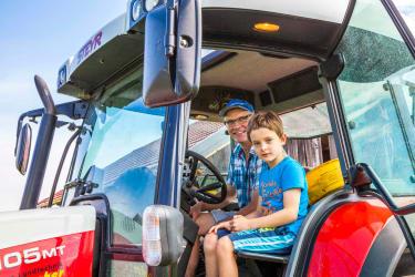 eine Traktorfahrt mit Franz