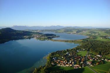 View of three lakes