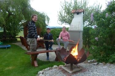 Grillen mit der Feuerschale