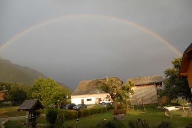 Der Regenbogen über unserem Garten