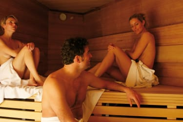 Sauna in der Alpentherme