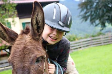 _Reiten auf Angelina, unserer Eselin