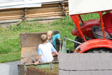 Eine Fahrt mit dem alten Traktor