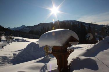 Blick auf Skigebiet Flachau