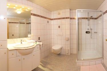 Dusche und Wc Fewo II.