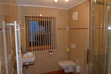 Ferienwohnung 1 Waldhex : Dusche / WC 1