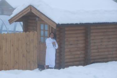 Sauna Abkühlung