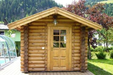 Sauna im Sommer