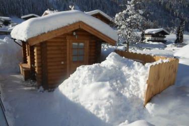 Sauna im Winter
