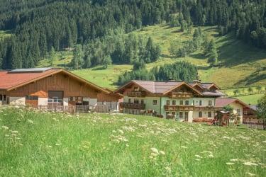 Haus und Stallgebäude