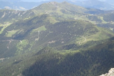 Blick von Ennskrax zur Weissenhofalm