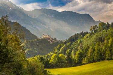 Ausblick auf die Burg Hohenwerfen