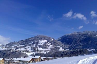 Aussicht ins Alpendorf