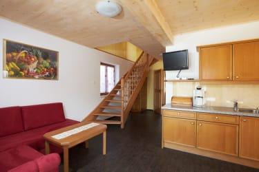 Ferienhaus Wohnraum & Küche