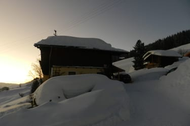 Jausenstation im Winter