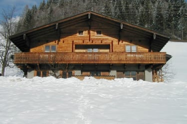 Blockhaus Winteransicht