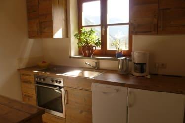 Vogeiwohnung Küche voll ausgestattet