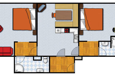 Grundriß Appartement I