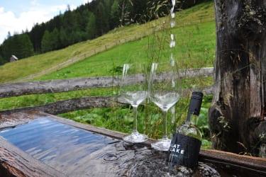 Weingenuss auf der Alm