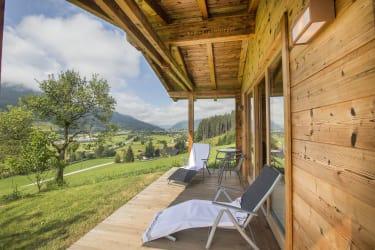 Terrasse Saunahütte