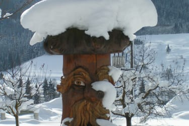 Brunnen im Winter