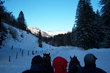 Pferdeschlittenfahrt zur Knappenstube Leogang