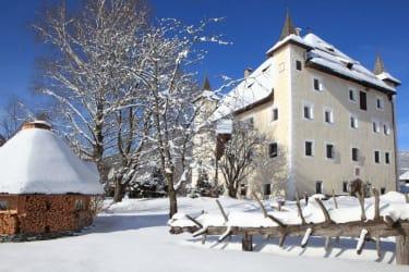 Schloss saalhof Winter