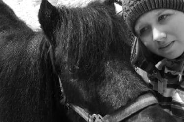 Pony Tina mit Alexandra