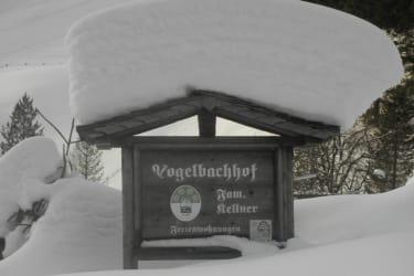 winterliche Hoftafel