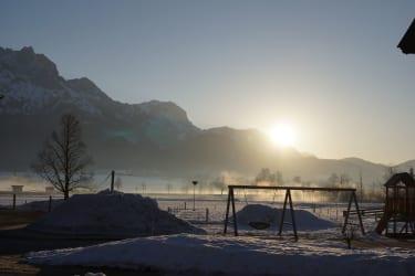 Sonnenaufgang bei uns auf dem Thomanhof