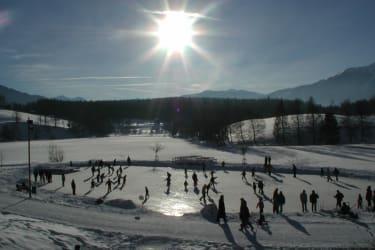 Der Ritzensee (3 km von uns) für Eisläufer ideal