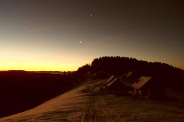 Oder genießen sie den Sonnenaufgang auf unserer Ostereralm