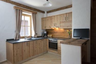 Voll ausgestattete Küche in der Ferienwohnung