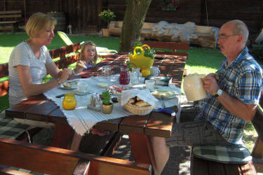 Frühstücken im Freien