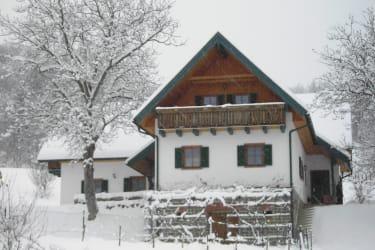 Ferienhaus im Schnee e