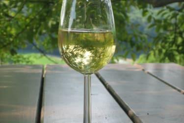 Entspannen bei einen Glas Wein