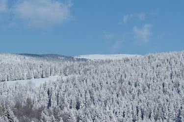 Blick auf unsere Winterliche Landschaft