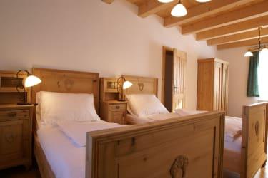 Die Hinterstubn - Schlafzimmer in der Hirschbirnwohnung