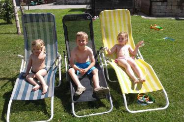 Die Sonne genießen - ein Vergnügen für die Kleinen
