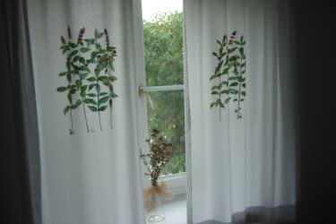 jeder Vorhang wurde individuell gefertigt