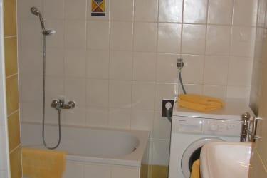 Badezimmer in der Ferienwohnung Brennessel