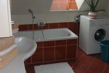 Badezimmer Ferienwohnung Salbei