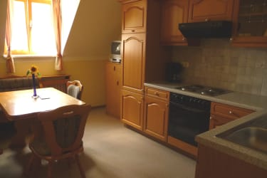 Geräumige Küche in der Ferienwohnung