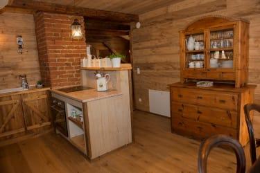 Wohnküche im Zirbenlandappartment