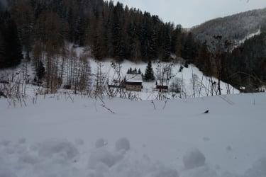 Hütte Winterlandschaft
