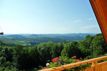 Ferienwohnung Aussicht vorderer Balkon