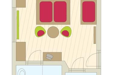 Zimmer Nr. 8 (mit Balkon)