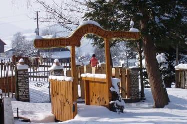 Die Brücke zum Kräutergarten im  Winter