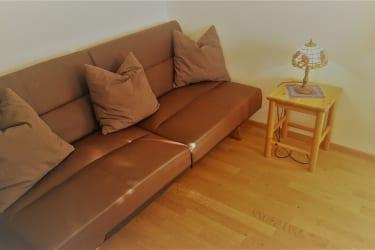 Schlafzimmer, ausziehbare Couch