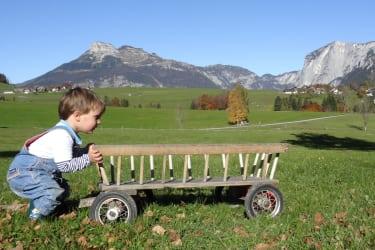 Matsi mit Leiterwagen